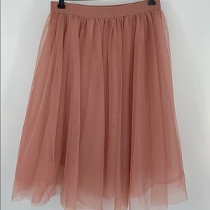 Haute Monde Blush Tulle Skirt. Sz. L